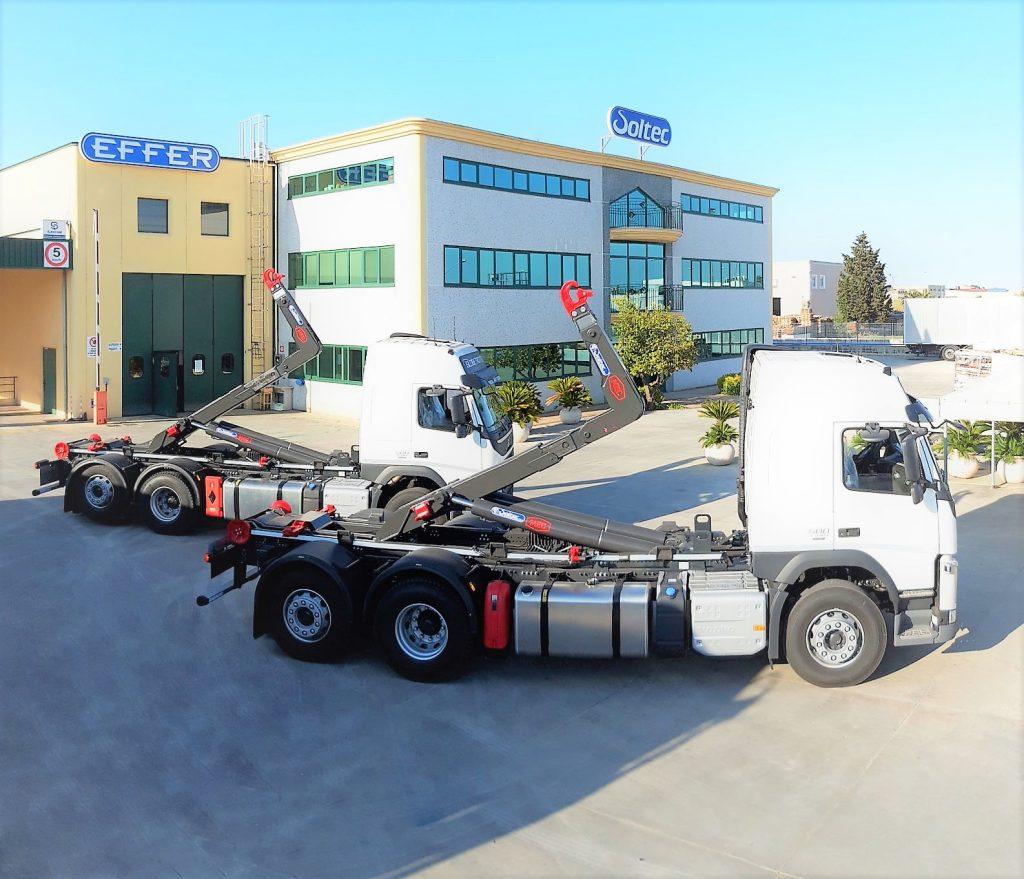 Scarrabili mec 26 ton su Volvo 3 assi FM